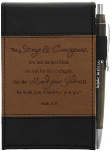 notepad_leather_strong_&_courageous